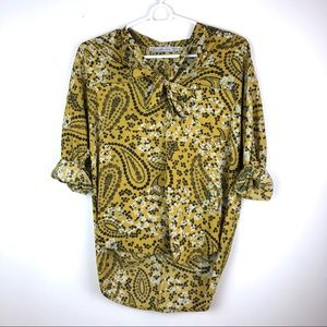 Abercrombie & Fitch Mustard Yellow Blouse XS